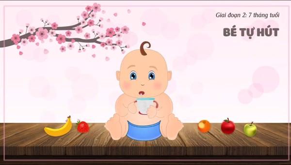 Tập uống cho bé từ 6-9 tháng (Giai đoạn 2)